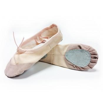 Балетки розовые с кожаным носком