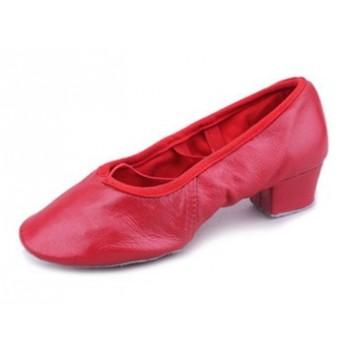 Балетки для танцев Grand Prix BLS11 красные