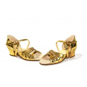 Туфли Club Dance бальные Б-2 зеркало золото