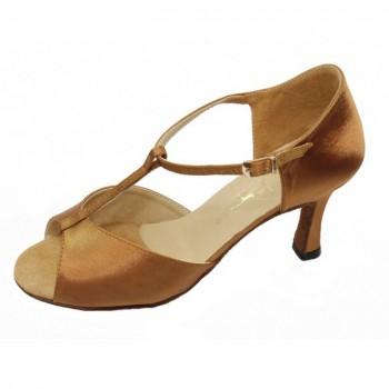 Туфли Club Dance Л-31 Latina (кожа чёрная, каблук 7 см)