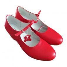 Туфли народные Коваленко красные