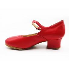 Туфли народные красные Club Dance Н-4