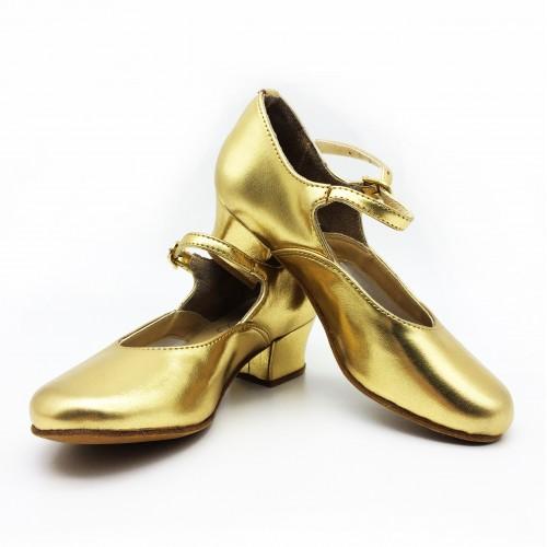 Туфли народные Club Dance Н-4 золотые