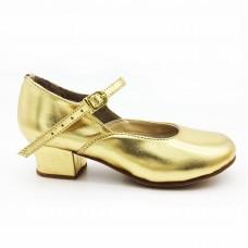 Туфли народные золотые Club Dance Н-4