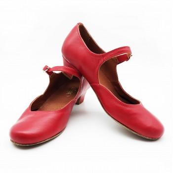 Туфли для народного танца Башмачок №2 красные