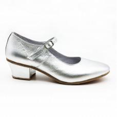Туфли народные Variant серебро обтяжной каблук