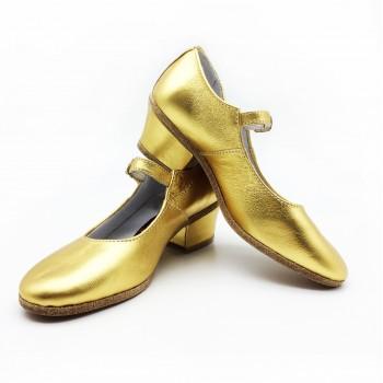 Туфли народные Variant золото обтяжной каблук