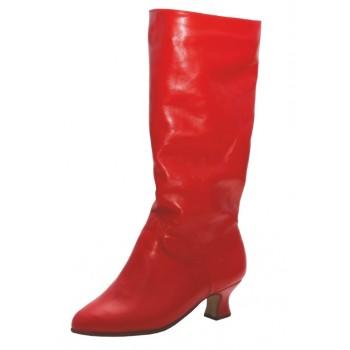 Сапоги  Club Dance Народные Н-1 (красные, каблук 3,5 см)