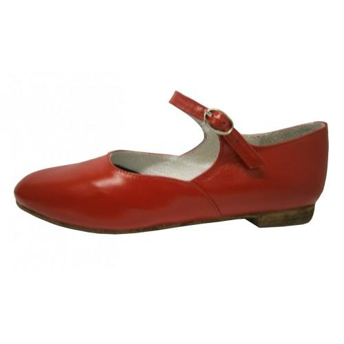 Туфли красные для народного танца Башмачок №1