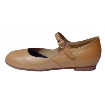 Туфли бежевые для народного танца Башмачок №1