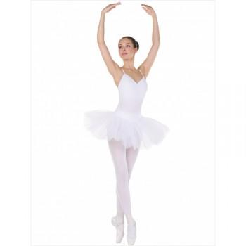 Трико балетное с отверстием Solo TR120 белое 80DEN