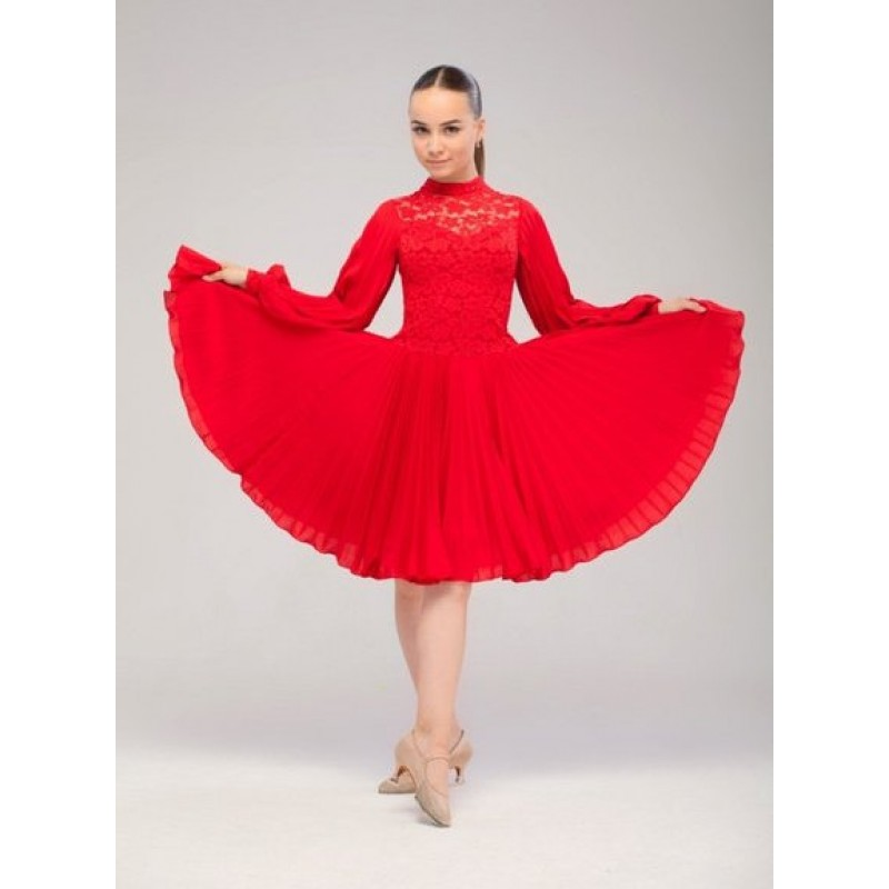 Фото красного платья для танцев