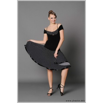 Платье для танцев латина Fenist Горох 143