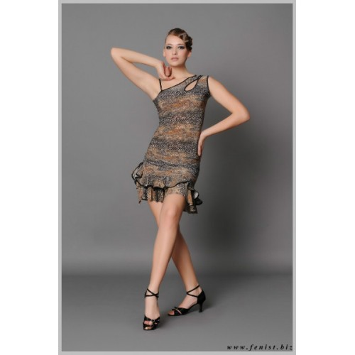 Платье для танцев латина Fenist 63 Трюфель