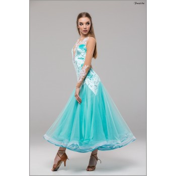 Платье для танцев стандарт Fenist 747 Инфинити