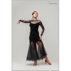 Юбка для танцев стандарт Fenist ЮС-719 Фиеста