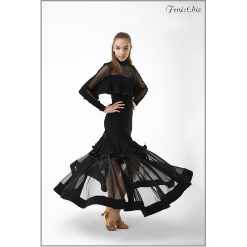 Юбка для танцев стандарт Fenist ЮС-744 Лори