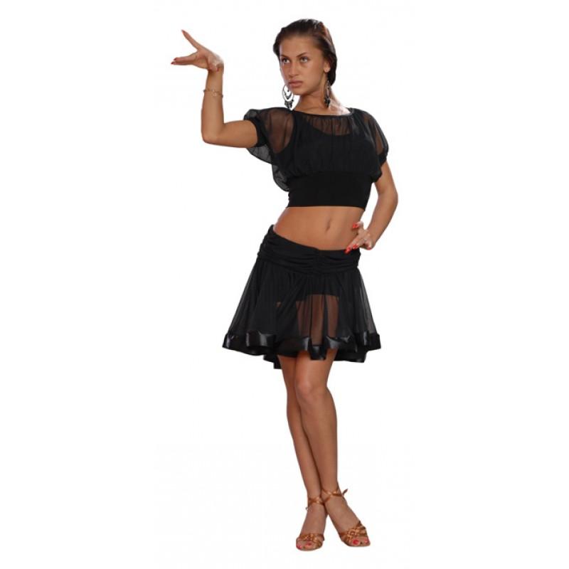 Юбка для тренировок по бальным танцам своими руками